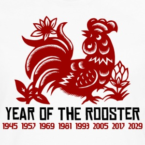Chinese Zodiac Rooster Paper Cut - Men's Premium Long Sleeve T-Shirt