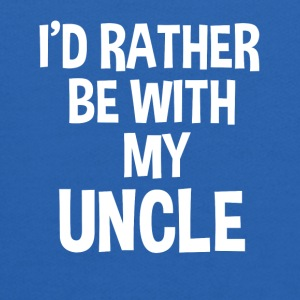 I'd rather be with my uncle funny baby shirt  - Kids' Hoodie