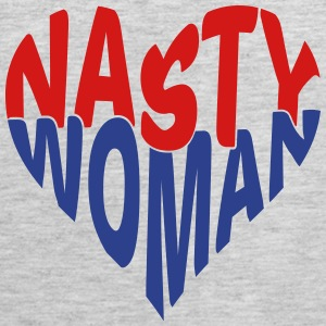 Nasty Woman Heart T-shirt T-Shirts - Men's Premium Tank