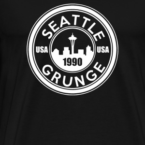 Grunge Seattle 1990 - Men's Premium T-Shirt