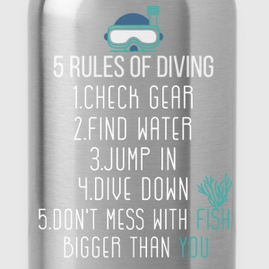 5 Rules of diving: 1 Check Gear; 2 Find water; 3 J - Water Bottle
