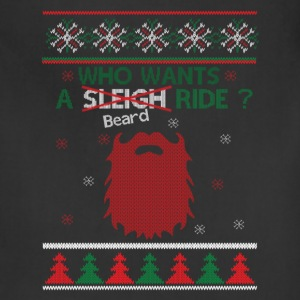 Mustache Who Wants A Beard Ride Xmas T-Shirts - Adjustable Apron