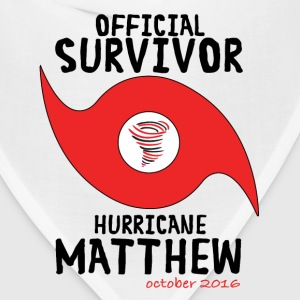 OFFICIAL SURVIVOR HURRICANE MATTHEW T-Shirts - Bandana