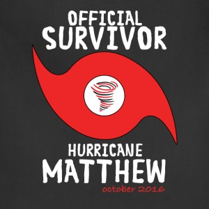 OFFICIAL SURVIVOR HURRICANE MATTHEW T-Shirts - Adjustable Apron