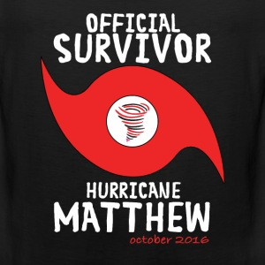 OFFICIAL SURVIVOR HURRICANE MATTHEW T-Shirts - Men's Premium Tank