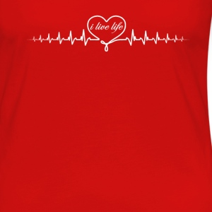heart beat ill T-Shirts - Women's Premium Long Sleeve T-Shirt