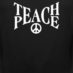 teach peace - Men's Premium Tank