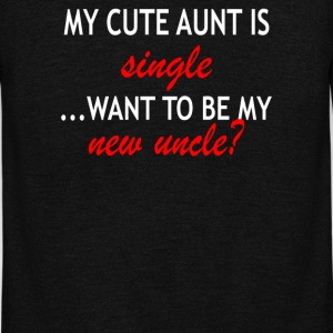 My cute aunt is single want to be my new uncle - Unisex Fleece Zip Hoodie by American Apparel