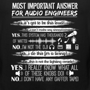 Audio Engineer Shirt - Men's Premium Tank