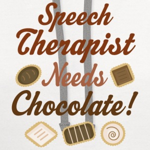 Speech Therapist Gift Fun T-Shirts - Contrast Hoodie