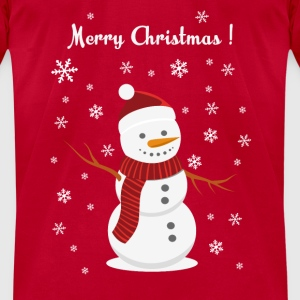 Christmas snowman - Men's T-Shirt by American Apparel