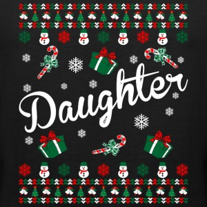 Daughter Ugly Christmas Sweater T-Shirts - Men's Premium Tank