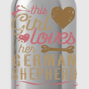 This Girl Loves Her German Shepherd T-Shirts - Water Bottle