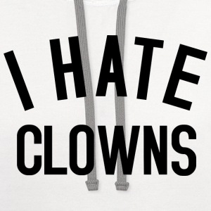 Clowns Text 2 black T-Shirts - Contrast Hoodie