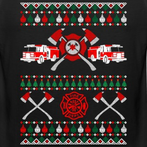 Firefighter Ugly Christmas Sweater T-Shirts - Men's Premium Tank