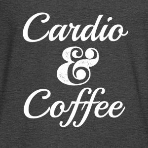 Funny Cardio and Coffee Shirt  - Men's Long Sleeve T-Shirt