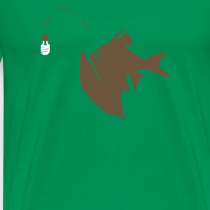 Angler Fish with Green Light Bulb - Men's Premium T-Shirt