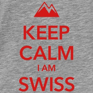 KEEP CALM I AM SWISS - Men's Premium T-Shirt
