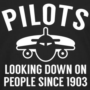 Pilots Looking Down - Men's Premium Long Sleeve T-Shirt