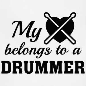 Heart Belongs Drummer - Adjustable Apron