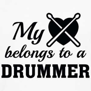Heart Belongs Drummer - Men's Premium Long Sleeve T-Shirt