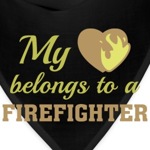 Heart Belongs Firefighter - Bandana