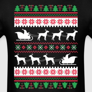 German Shorthaired Pointer Santa's Reindeer Christ T-Shirts - Men's T-Shirt