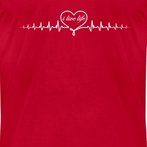 heart beat ill Long Sleeve Shirts - Men's T-Shirt by American Apparel