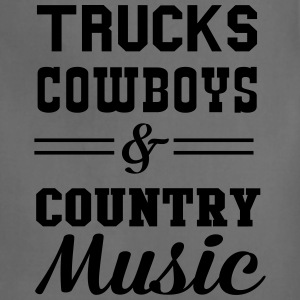 Trucks Cowboys and Country Music T-Shirts - Adjustable Apron