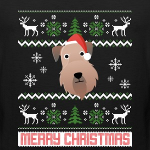 Soft Coated Wheaten Terrier Santa Snow Christmas T T-Shirts - Men's Premium Tank