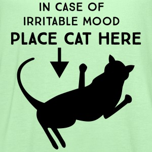 In case of irritable mood place cat here T-Shirts - Women's Flowy Tank Top by Bella