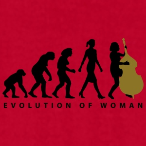 evolution_female_bass_player_a_2c Mugs & Drinkware - Men's T-Shirt by American Apparel