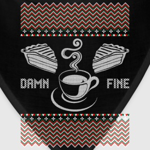 Damn Fine Coffee Ugly Christmas Sweater T-Shirts - Bandana