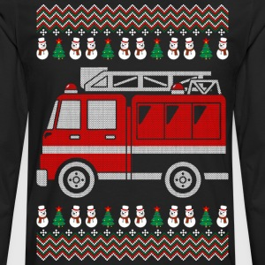 Firefighter Christmas Ugly Sweater T-Shirts - Men's Premium Long Sleeve T-Shirt