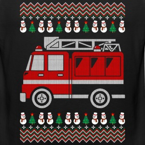 Firefighter Christmas Ugly Sweater T-Shirts - Men's Premium Tank