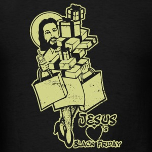 Jesus Heart Black Friday - Men's T-Shirt