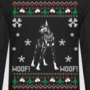 Doberman Ugly Christmas Sweater T-Shirts - Men's Premium Long Sleeve T-Shirt