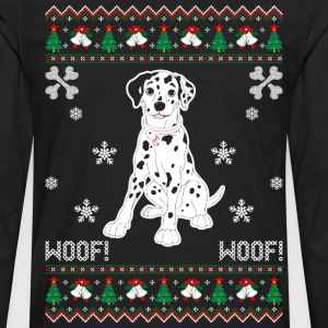 Dalmatian Ugly Christmas Sweater T-Shirts - Men's Premium Long Sleeve T-Shirt