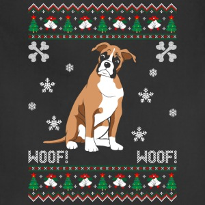 Boxer Ugly Christmas Sweater T-Shirts - Adjustable Apron