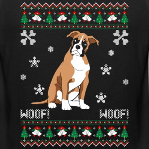 Boxer Ugly Christmas Sweater T-Shirts - Men's Premium Tank