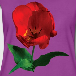 Red Tulip in Sunshine Baby Bodysuits - Women's Premium T-Shirt