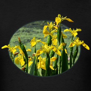 Yellow Irises Against Sky Long Sleeve Shirts - Men's T-Shirt