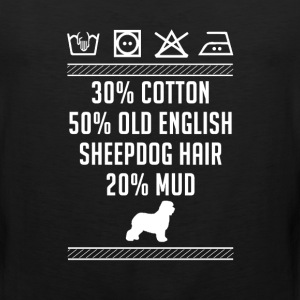 Old English Sheepdog Hair - Washing Label T-Shirt T-Shirts - Men's Premium Tank