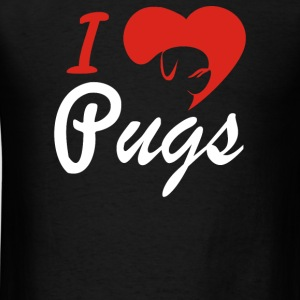 I Love Pugs - Men's T-Shirt