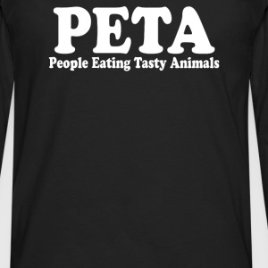 People Eating Tasty Animals - Men's Premium Long Sleeve T-Shirt