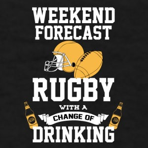 Rugby With A Chance Of Drinking Mugs & Drinkware - Men's T-Shirt