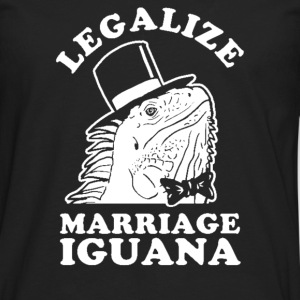 Legalize Marriage Iguana - Men's Premium Long Sleeve T-Shirt