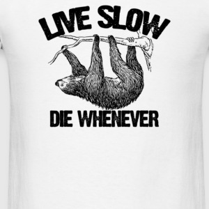 Live slow - Men's T-Shirt