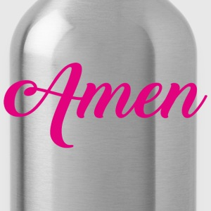 Amen Typographic pink T-Shirts - Water Bottle