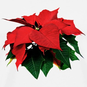 Poinsettia and Leaves Other - Men's Premium T-Shirt